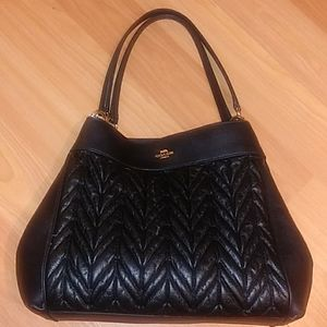 """Coach """"LEXY"""" Quilted Shoulder Bag"""